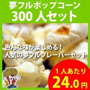 ポップコーン 夢フルポップコーン 300人セット ポップコーン豆 フレーバー オイル 材料セット|fescogroup