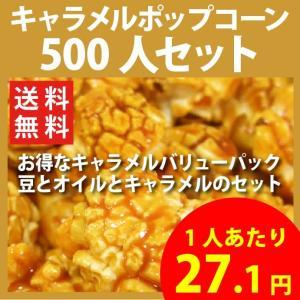ポップコーン キャラメルポップコーン 500人セット ポップコーン豆 フレーバー オイル 材料セット|fescogroup