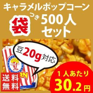 ポップコーン ポップコーン袋付 キャラメルポップコーン  500人セット ポップコーン ポップコーン豆 フレーバー オイル 材料セット|fescogroup
