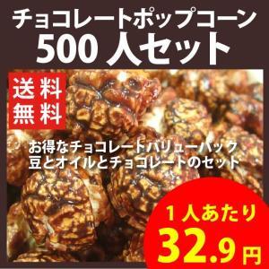 ポップコーン チョコレートポップコーン 500人セット ポップコーン豆 フレーバー オイル 材料セット|fescogroup