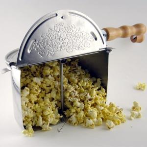 ポップコーンメーカー IH対応 ステンレス製 ポップコーンポッパー Silver Whirley Popスターターキット付 家庭用 調理鍋|fescogroup|02