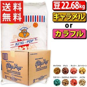 ポップコーン KINGポップコーン豆 マッシュルームタイプ 22.68kg + キャラメル or カラフルフレーバー22.7kg|fescogroup