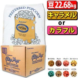 ポップコーン プレファード バタフライ豆 GOLD 22.68kg + キャラメル or カラフルフレーバー22.7kg|fescogroup