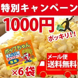 ポップコーン 1000円ポッキリ!ポップちゃん6袋 塩味|fescogroup
