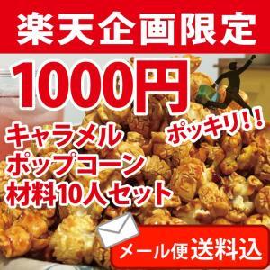 ポップコーン 1000円ポッキリ!キャラメル10人セット ポップコーン豆 フレーバー オイル fescogroup
