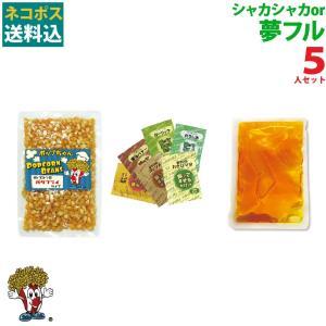 ネコポス送料込 ポップコーン 夢フルポップコーン 5人セット ポップコーン豆 フレーバー オイル 材料セット|fescogroup