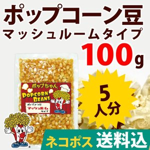 ネコポス送料込 ポップコーン ポップコーン豆 マッシュルームタイプ 100g 種|fescogroup