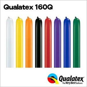Qualatex Balloon 160Q ジュエルカラー 単色 約100入 風船 マジックバルーン ペンシルバルーン クオラテックス バルーン festival-plaza