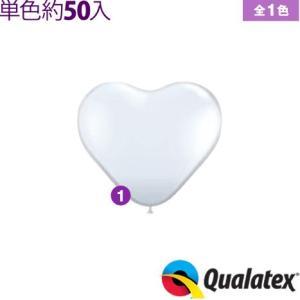 約50入 Qualatex Balloon 15インチ(約38cm) ハート ジュエルカラー(透明タイプ) 単色 全1色 風船 ハート イベント クオラテックス バルーン|festival-plaza