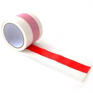 紅白テープ ビニール 幅7.5cmx長さ50m{紅白 テープ}[14/0718]{子供会 景品 お祭り くじ引き 縁日} festival-plaza