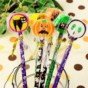 茶箱 ハッピーハロウィン けしごむ付えんぴつ 24入 景品玩具 220[15/0903]|festival-plaza
