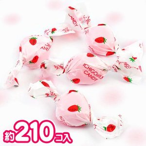 1kg アメハマのいちごミルクキャンディ (約210個前後 ※2013年4月現在) 駄菓子 [13/0425]{飴 アメ キャンディ 業務用 徳用 大袋 催促 景品}|festival-plaza