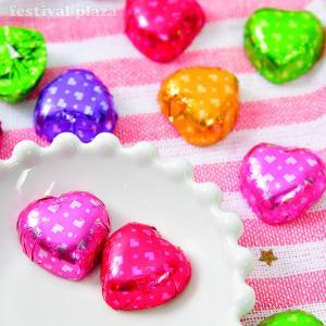 春日井製菓 ラ・リンカ(国産ハートチョコレート) 450g バレンタイン ハロウィン クリスマス お菓子 チョコレート 業務用 駄菓子 [14/0708]|festival-plaza