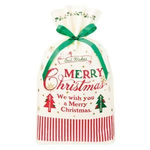 クラシカルクリスマスリボン付PEギフトバッグ−M 20枚 クリスマス ラッピング603[18K17]|festival-plaza