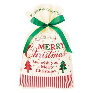 クラシカルクリスマスリボン付PEギフトバッグ−S 20枚 クリスマス ラッピング603[18K17]|festival-plaza