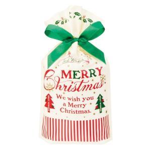 クラシカルクリスマスリボン付PEギフトバッグ−XS 20枚 クリスマス ラッピング603[18K17]|festival-plaza