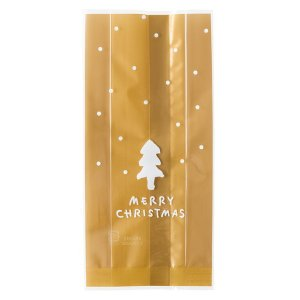 シンプルクリスマススイーツパック/クリア−2 100枚 クリスマス ラッピング603[18K17]|festival-plaza