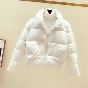 中綿コート レディース ダウン風ジャケット 無地 厚手 ショート丈 シンプル 立ち襟 防寒 あったか 暖かい きれいめ アウター おしゃれ|ff8yoshi1127