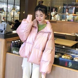 中綿コート レディース ショート丈 ダウン風ジャケット 立ち襟 ゆったり 厚手 暖かい きれいめ 防寒 あったか アウター おしゃれ|ff8yoshi1127