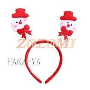 カチューシャ赤い帽子の雪だるま付き10個セット|ff8yoshi1127