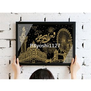 大人の塗り絵ホログラム塗り絵セット心がやすらぐスクラッチアートツール付き41*29cmプレゼントギフト|ff8yoshi1127