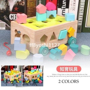 積み木型合わせ型はめ引き車木のおもちゃモンテッソーリ立体色彩感覚知育玩具赤ちゃん遊びゲーム子どもギフト誕生日 ff8yoshi1127