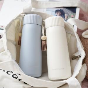 水筒 コップ おしゃれ 魔法瓶 400ml 直飲み 保温/保冷性 ステンレス 旅行用品 登山ボトル ...