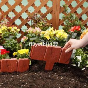 ガーデニングフェンス花壇の仕切りおしゃれpvcフェンスピケットフェンス10枚セット|ff8yoshi1127