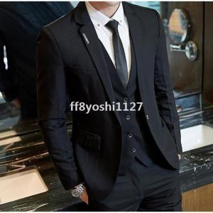 3ピーススーツスリーピース礼服ビジネススーツメンズ成人式フォーマル大きいサイズ細身入学式スリムスーツ二次会就職活動3点セット結婚式卒業式|ff8yoshi1127