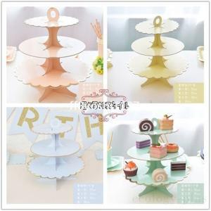 キッチントレイ3段ホワイトケーキスタンドキッチントレー果物トレーキッチン収納ケーキトレイケーキトレイトレイ組立て式|ff8yoshi1127