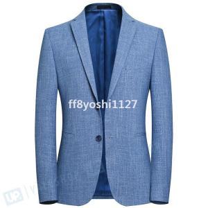 夏サマージャケットメンズブレザー夏テーラード紳士服スーツジャケットスリムクールビズオシャレ韓国風|ff8yoshi1127
