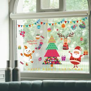 ウォールステッカー クリスマス シール 飾り 壁紙 剥がせる  サンタクロース 窓 家庭 ショーウインドウ インテリア クリスマス 雰囲気満点 ff8yoshi1127