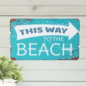 ウッドボード/アートボード/BEACH/アンティーク/ウッド/ハワイ雑貨/インテリア雑貨 ビーチ 28603|ffactory-ff