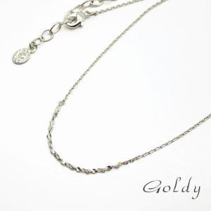 メール便可【Goldy】ゴールディ/ネックレス/真鍮/ニッケルフリー シルバー メッキ アクセサリー|ffactory-ff