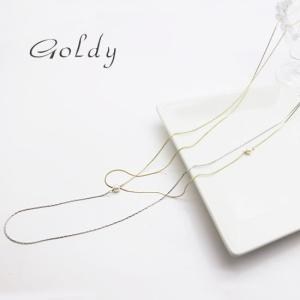 メール便可【Goldy】ゴールディ/ネックレス/ロングネックレス/2重 パール ゴールド アクセサリー|ffactory-ff