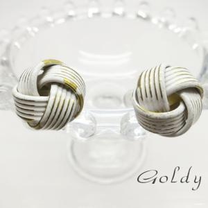 【Goldy】ゴールディ/ピアス/チタンポスト/真鍮 白塗装 アクセサリー|ffactory-ff