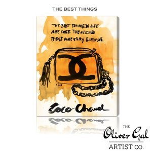 【OliverGal】オリバー・ガル/アート/絵画/インテリア雑貨/シャネル/ショルダー柄/THE BEST THINGS 10349 オリバーガル プレゼント|ffactory-ff
