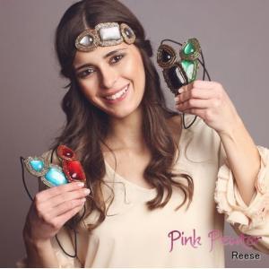 【メール便可】PinkPewter/ピンクピューター/ヘアジュエリー/ヘアアクセサリー/ヘアバンド/カチューシャ/ヘアゴム/ハンドメイド Reese シルバー|ffactory-ff