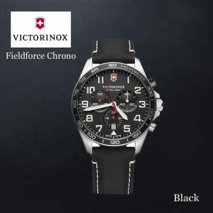VICTORINOX/ビクトリノックス/ウォッチ/腕時計/Fieldforce Chrono/クロノグラフ メンズウォッチ ラージ/48mm ブラックシルバー ブVWAV241852 ffactory-ff