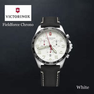 VICTORINOX/ビクトリノックス/ウォッチ/腕時計/Fieldforce Chrono/クロノグラフ メンズウォッチ ラージ/42mm ホワイトシルバー ブラック VWAV241853 ffactory-ff
