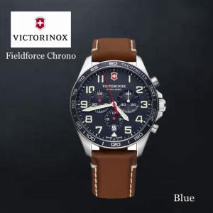 VICTORINOX/ビクトリノックス/ウォッチ/腕時計/Fieldforce Chrono/クロノグラフ メンズウォッチ ラージ/42mm ブラックシルバー ブラウン VWAV241854|ffactory-ff