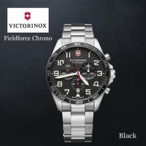 VICTORINOX/ビクトリノックス/ウォッチ/腕時計/Fieldforce Chrono/クロノグラフ メンズウォッチ ラージ/42mm /ブラック/ステンレススチール VWAV241855 ffactory-ff