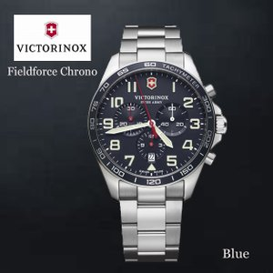 VICTORINOX/ビクトリノックス/ウォッチ/腕時計/Fieldforce Chrono/クロノグラフ メンズウォッチ ラージ/42mm /ブルー/ステンレススチール/VWAV241857|ffactory-ff