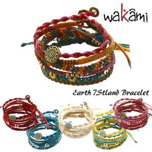 wakami/ワカミ/ブレスレット/アースブレスレット/Earth Bracelet/7ストランド 7本セット ターコイズ レッド イエローアシン アンティグア ベージュ ピンク|ffactory-ff