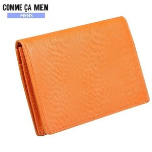 ★SALE 57%OFF★【COMME CA MEN】コムサメン 本革 エンボスレザーカラー名刺入れ(カードケース) 橙『15/7/5』290715(送料無料)|fflower11