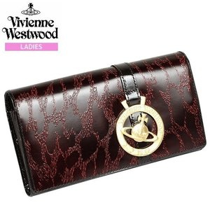 【Vivienne Westwood】ヴィヴィアンウエストウッド 本革 GOLDレオパード かぶせ長財布 赤『17/4/5』280417(送料無料)|fflower11