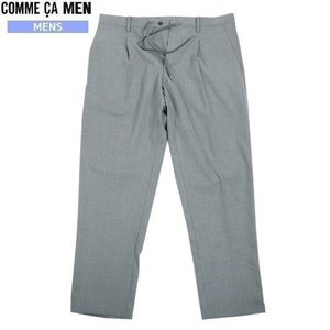 ★SALE 62%OFF★【COMME CA MEN】コムサメン ストレッチ スリムタックパンツ グレー『18/10/3』181018(送料無料)|fflower11