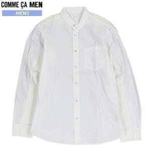 ■SALE 70%OFF■【COMME CA MEN】コムサメン ホワイトコンビネーション カジュアルシャツ(長袖) 白『18/10/5』311018(送料無料)|fflower11