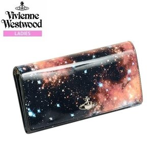 【Vivienne Westwood】ヴィヴィアンウエストウッド 本革 NEBULA かぶせ長財布 黒『17/4/5』280417(送料無料) fflower11