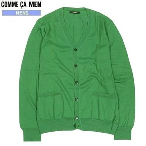★SALE 65%OFF★【COMME CA MEN】コムサメン シルク混ニットカーディガン 緑『16/5/4』240516(送料無料)|fflower11